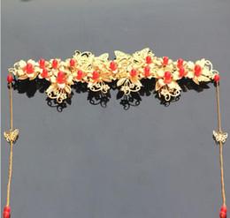 Argentina Sombreros de novia con flecos dorados, peluquería en la frente, show de peluquería, vestimenta, vestido de dragón y fénix, traje antiguo, diadema, cheap hairdressing clothes Suministro