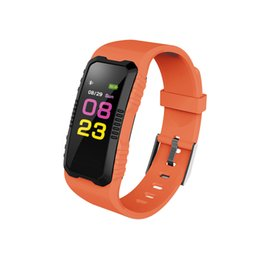 Wholesale Waterproof Cell Phone Watches - H2 Smart Bracelet Bluetooth Fitness Tracker Smart watch Blood Oxygen Smartband heart rate monitor for Android iphone Cell phone