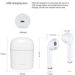 Wholesale Wireless Headsets Price - best price MINI Double-ear earphones Bluetooth Headset True Wireless Sport headphones TWS with charge cabin For iphone 7S Smartphone