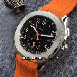 orologio aquanaut Sconti Brand New Date Aquanaut 5968A-001 quadrante nero Asian 2813 Mens Automatic Watch 11 Color Silver Case cinturino in gomma arancione Orologi di alta qualità