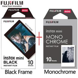 Wholesale fuji instax mini film - Fujifilm Fuji Instax Mini 9 Film black and white Monochrome Mono + Black Frame Film for Mini 8 70 8 Plus 90 25 Camera SP-1 SP-2