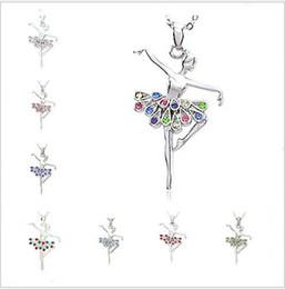 gioielli da ballo Sconti Crystal Necklaces Christmas Dancing Ballerina Dancer Crystal Ballet Danza Collana pendente Fascino Gros Collier Femme Gioielli Donna Gioielli