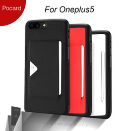 Estuche para tarjeta oneplus online-DUX DUCIS Estuche para Oneplus 5 con portatarjetas Fundas para teléfonos móviles Oneplus5 Funda trasera One Plus5 Funda One Plus 5