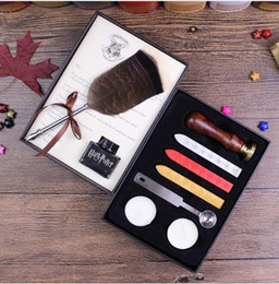Wholesale Harry Potter Box Set - Harry Potter And The Cursed Child Feather Quill Pen Set With HP Sealing Wax Set And Diary For Fans Gift