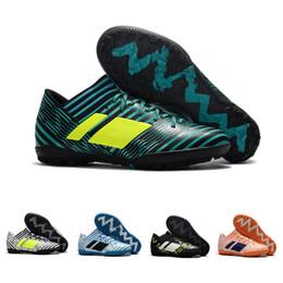 Wholesale Leather Turf Soccer Shoes - 2018 Nemeziz Tango 17.3 IC TF mens Soccer Shoes purecontrol turf tango nemeziz 17 football boots new soccer cleats purecontrol
