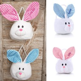 Kids bunny bag canada best selling kids bunny bag from top canada ins easter basket with bunny ears cartoon plaid ears gifts bags kids cute rabbit baskets negle Gallery
