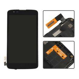 Canada Noir Pour LG K7 écran LS665 LS675 MS330 LCD Affichage Écran Tactile Avec Cadre Lunette Digitizer Pleine Assemblée Pièces Offre