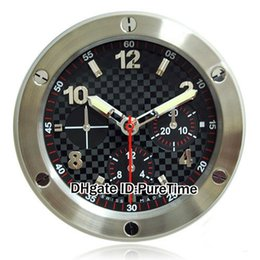 Wholesale Cheap Big Dial Watches - Luxury Brand Design Cheap Wall Decoration Steel Wall Watch Clock Wallclock Steel Case Black Dial Type Branded Big Luminous 8 Colors H-03