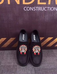 Wholesale Close Image - Indian Image HOT Mens Casual Shoes 100% Genuine Leather Shoes High Quality Comfort Business Man Footwear Nonslip Rubber Pedaling