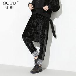 Wholesale Korean Style Harem Pants - [GUTU] Autumn spring 2018 Solid Color New Pattern Korean Design Hip Hop Style Fashion Loose Harem Pants Women MA04501