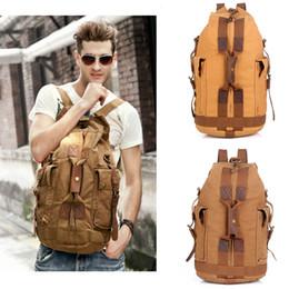 Wholesale Function Art - Men Canvas Backpack Multi-function School Students Back Pack Travel Rucksack Large Capacity Male Shouler Bag Free Shipping G162S