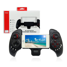 Wholesale Game Stick For Tablets - PG9023 Stretchable Wireless Bluetooth Game Pad Game Controller Gaming Joy Stick For iOS For Android Phone PC Tablet