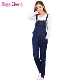 7a619cf5c8 2018 Pregnant Women Jeans Overalls Bib Pants for Maternity Jumpsuit  Pregnancy Clothing Pregnant Women Nursing Denim Trousers 4XL