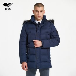 Wholesale Woven Trim - HAI YU CHENG Quilted Puffer Jacket Winter Coat Male Anorak Outerwear & Coats Windproof Jacket Slim Parka Men Overcoat For Men