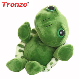 Wholesale Tortoise Stuffed Animal - Tronzo 20cm Super Green Big Eyes Stuffed Tortoise Turtle Animal Plush Baby Toy Birthday Christmas Gift For Kids Dropshipping