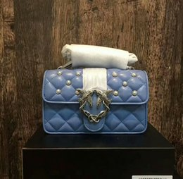 Wholesale Black Large Pearls - Original Sheepskin Chains Bag Famous Style Swallow Shoulder Bag Genuine Leather Pearl Luxury Handbag With Box wxxm