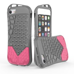 Wholesale Tpu Sports Shoes - Armor Shockproof Rugged TPU PC Cover Protection Heavy Duty Hybrid Sports Shoe Soles Case For iPhone X 8 7 6 6s Plus Opp Bag