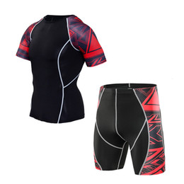 Argentina Pantalones de compresión de secado rápido marca de ropa para hombres ropa de impresión 3D traje deportivo pantalones cortos medias gimnasio camiseta Ciclismo chándal cheap print t shirts fast Suministro