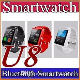 Wholesale Pair Phone - 10X U8 Bluetooth Smart Watch Fashion Casual Android Watch Digital Sport Wrist LED Watch Pair For iOS Android Phone DZ09 GT08 Smartwatch A-BS