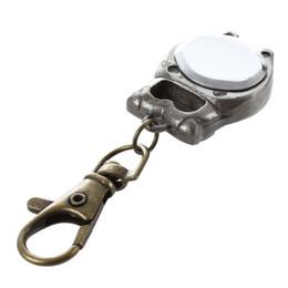 Quarz keychain online-Keychain Clock Schlüsselanhänger Eule Form Taschenuhr, 37x24mm