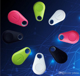 Wholesale Two Way Phones - Bluetooth headset smart blue water droplets anti - lost phone two - way alarm pet children anti - lost patch