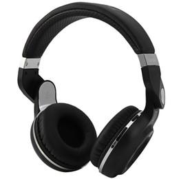 mikrofonanschluss Rabatt Bluetooth-Freisprecheinrichtung Super Bass Music Kopfhörer mit Line-In-Buchse Mikrofon TF-Kartensteckplatz für Smartphones Comp
