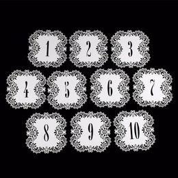 Números de corte a laser on-line-Oco-Cut Cartões de Número de Mesa Suprimentos de Casamento Cartão de Mesa 10 pçs / set Peça Central Do Casamento Decoração de Festa de Noivado