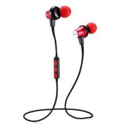 earphones good bass wholesale Coupons - MS-T2 Magnetic Bluetooth Sport Earphone Wireless Running Headset With Mic MP3 Earbud Bass Stereo BT 4.2 For iphone xiaomi good