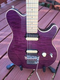 Wholesale Quilted Maple Top Guitar - Birds Eye Maple Neck & Fingerboard Music Man Ernie Ball Axis Trans Purple Quilted Maple Top Electric Guitar Edward Van Halen Wolf Signature