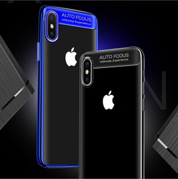 Wholesale Soft Focus - ultra Slim Silicon Plating TPU Clear Case for iPhone x Auto Focus Transparent Back soft Cover for Iphone 6 6plus 7 8 8plus