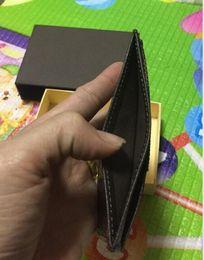 2020 titular de la tarjeta de marca 2018 Famous Brand Women and Mens Credit Card Holders Titular de la tarjeta de crédito de cuero genuino Damier grafito lienzo Cartera de la tarjeta titular de la tarjeta de marca baratos