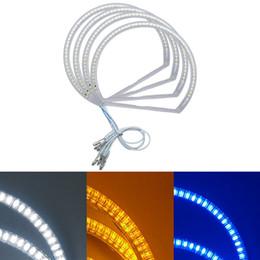 Лампа bmw e46 онлайн-3-Цвет 4 шт. / компл. автомобиль LED Halo кольца глаза ангела DRL фара для BMW E46 (1998-2001) Vorfacelift #4755