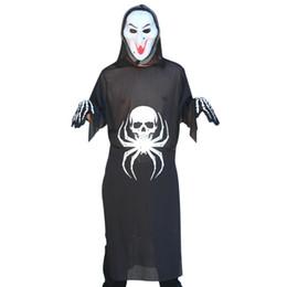 80a5007fe7 adult one piece costumes UK - Unisex 3-Piece Halloween Costume Grim Reaper  Spider Bones