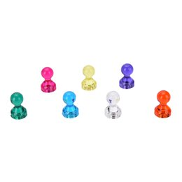 Wholesale Thumbtack Wholesalers - 10Pcs Candy Color Strong Colored Magnetic Thumbtacks Neodymium Noticeboard Skittle Pin Magnets DIY Fridge Whiteboard Random