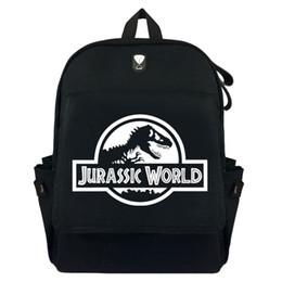 6fdf22fadff0c Jurassic Dünya SPN Tuval Sırt Çantası Sırt Çantası Öğrenci Schoolbag Çantası  Seyahat Laptop Cosplay Çanta Hediyeler
