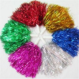 Allegri palle online-Cheer Dance Sport Supplies Concorrenza Cheerleading Pom Poms Flower Ball Illuminando Party Fancy Pom Poms 30g