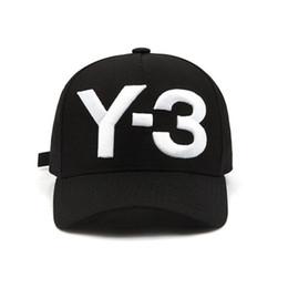 cappelli di stile militare per gli uomini Sconti Moda Y-3 Pure Cotton Berretto da baseball hip hop con visiera Ricamato Lettera Regolabile uomo donna Casual Snapbacks Sport visiera gorras cappelli