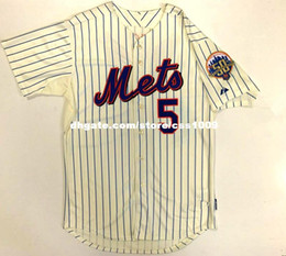 Wholesale base number - Cheap custom DAVID WRIGHT NEW YORK 50TH ANNIVERSARY COOL BASE MAJESTIC HOME JERSEY 44 Stitched Customize any number name youth Jerseys