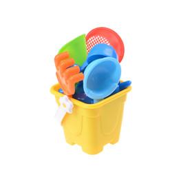 Wholesale Toy Sand Bucket Wholesale - 7pcs Set Sand Water Beach Play Toys Set Kids Children Seaside Bucket Shovel Rake Kit Building Sea Horse Molds Funny Tools