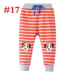 afc8782395fb2 INS Kış Bahar çocuklar sarı çizgili köpek Beraberlik kordon pantolon tam  baskı pp pantolon Spor Sweatpants Terry 100% pamuk Pantolon 20 üzerinde .