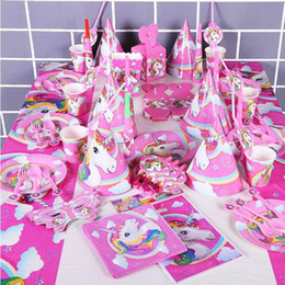 141pcs fête d'anniversaire de Licorne Set Fournitures Favor Faveur de Licorne Set avec Cake Toppers Vaisselle jetable, Noël Jouet GGA108 10PCS ? partir de fabricateur