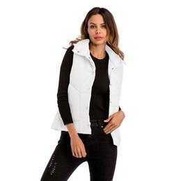 a9128908a6ce1 Lightweight Warm Women's Vest Spring Autumn Black Grey White Short Vests  For Women Gilet Sleeveless Jacket Vest Lapel Waistcoat