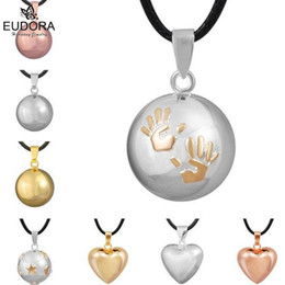 Ювелирные украшения ангела-хранителя онлайн-Guardian Angel Pendants Chime Ball Jewelry Eudora Harmony Bola Mexico Ball Baby Angel Caller Pendant Necklace Pregnant Gift