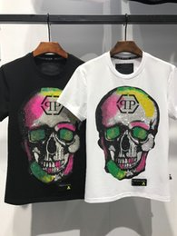 Wholesale Fashion Tshirts - Hot Sale Summer New Fashion Casual T Shirt For Men High Quality Short Sleeve Skull Printed Tshirts