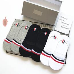 Упаковка для носков онлайн-Высококачественная упаковка 6 пар / Подарочная коробка в туберкулезном стиле мужские и женские полосатые носки летом Хлопковые носки Stealth носки свободного размера
