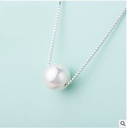 Wholesale natural baroque pendant - 925 Sterling Silver Women Size baroque Shape Natural Freshwater Pearl Pendant Necklace