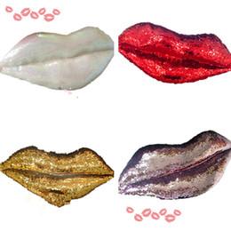 Almohadas sexy online-Sexy Lip Cushions Reversible Paillette Divertido Decoración Del Hogar Cojín Sofá Silla Almohadas Para El Amante Regalos Almohadas T2I200