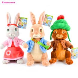 qualité vidéo Promotion Doux et beaux animaux en peluche Peter Rabbit Dolls jouets de haute qualité pour apaiser les bébés parfaite compagnons de bébé cadeau nouveau-né