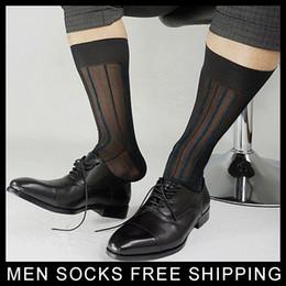 Marke Seide Socken für formale Männer Nylon Striped Toe Bedeckt Fetisch Collection Herren Sexy Kleid Socken Strumpf für Lederschuhe Sox von Fabrikanten