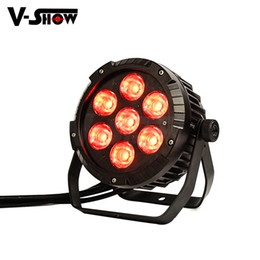 Wholesale Par Can Bulb - Free shipping 1piece outdoor COB LED Par Can 7*25W RGBWA 5in1 Color waterproof par light for outdoor lighting show garden decoration